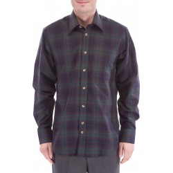 Rutig skjorta med ull