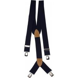 extra breda mörkblå hängslen