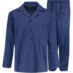 Blå Randig Pyjamas