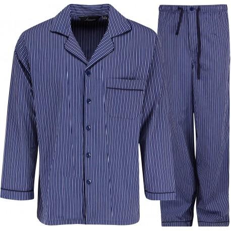 Ambassador pyjamas - Blå / Vit