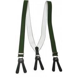 Breda gröna hängslen för knappar
