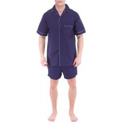 Marinblå herr pyjamas
