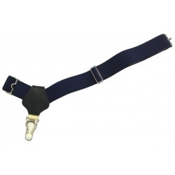 Mörkblå sockor hängslen