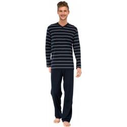 Schiesser pyjamas - randig Grön