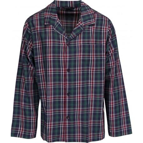 Schiesser pyjamas för män - Rutig Grön
