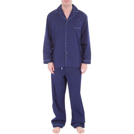 Ljusblå herrpyjamas