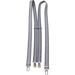 Mönstrade hängslen - Blå