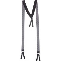 Breda Mörkgrå hängslen för knappar