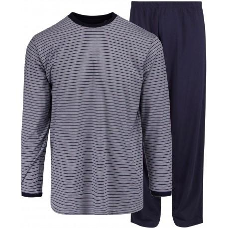 Ambassador jersey pyjamas - Blårandiga