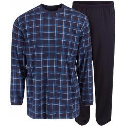 Ambassador jersey pyjamas - blått rutig