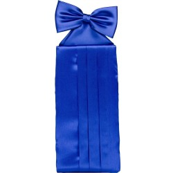 Koboltblått cummerbund