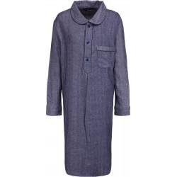 Blå randig nattskjorta