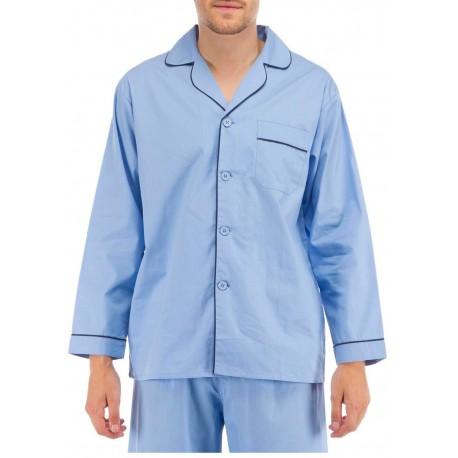 Hellblau Herren Pyjama