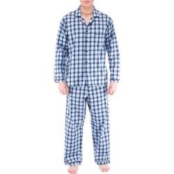Rutiga flanell pyjamas